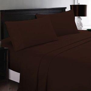 ⭐️SALE⭐️Queen 6pc Brown Bedsheets